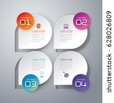 infographics design vector and... | Shutterstock .eps vector #628026809