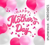 happy mothers day card with 3d... | Shutterstock .eps vector #628026821