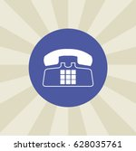 telephone icon. sign design....