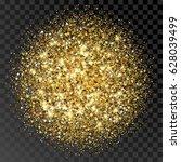 golden glittering circle made... | Shutterstock .eps vector #628039499
