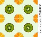 tiled seamless pattern of... | Shutterstock .eps vector #628043255