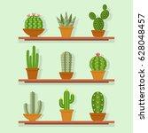 cactus icon vector illustration ... | Shutterstock .eps vector #628048457