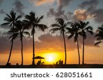 Sunset Palm Beach With People'...