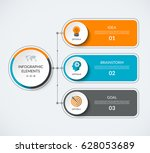 infographic diagram template... | Shutterstock .eps vector #628053689