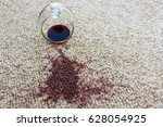 glass of red wine fell on... | Shutterstock . vector #628054925