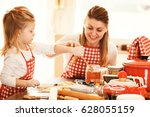 mum and daughter spending time... | Shutterstock . vector #628055159