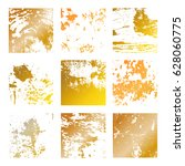 set grunge gold distress... | Shutterstock .eps vector #628060775