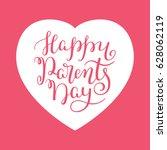 happy parents day hand... | Shutterstock .eps vector #628062119