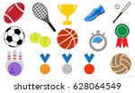 sport icon set | Shutterstock .eps vector #628064549