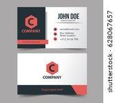 modern business cards simple... | Shutterstock .eps vector #628067657