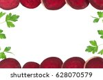 beet isolated on white... | Shutterstock . vector #628070579