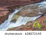 Waterfalls In Park Creek At...