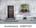 simple old house facade. | Shutterstock . vector #62807233