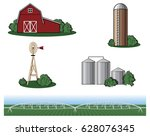 Farm And Agriculture Vector...