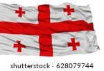 isolated georgia flag  waving...   Shutterstock . vector #628079744