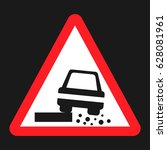 dangerous roadside and shoulder ... | Shutterstock .eps vector #628081961