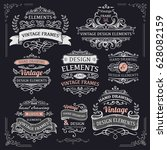 vintage frames and design... | Shutterstock .eps vector #628082159
