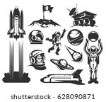 set of vector icons of space....   Shutterstock .eps vector #628090871