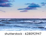 waves on surface of sea at... | Shutterstock . vector #628092947