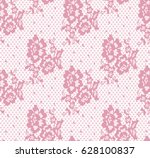 seamless vector pink lace... | Shutterstock .eps vector #628100837