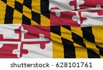closeup maryland flag on... | Shutterstock . vector #628101761