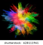 explosion of colored powder ... | Shutterstock . vector #628111961