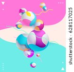 multicolored decorative... | Shutterstock .eps vector #628117025