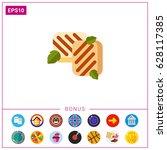 homemade halloumi icon | Shutterstock .eps vector #628117385