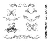 decorative monograms and... | Shutterstock .eps vector #628120205