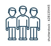 group of people vector icon in...   Shutterstock .eps vector #628135445