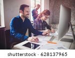 coworking and corporate...   Shutterstock . vector #628137965
