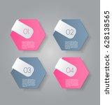 business infographics tabs... | Shutterstock .eps vector #628138565