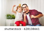 father's day. happy family... | Shutterstock . vector #628138661