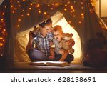 reading and family games in... | Shutterstock . vector #628138691