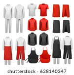 big set of culinary clothing ... | Shutterstock .eps vector #628140347