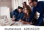 company employees working in... | Shutterstock . vector #628142225