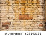 textured background  old brick... | Shutterstock . vector #628143191