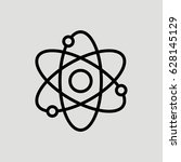 atom science vector icon | Shutterstock .eps vector #628145129