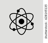 atom science vector icon | Shutterstock .eps vector #628145135