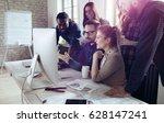 corporate team working... | Shutterstock . vector #628147241