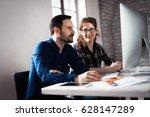 programmers working in a...   Shutterstock . vector #628147289