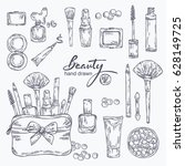 beauty collection with... | Shutterstock .eps vector #628149725