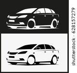 off road vehicle. vector. eps10. | Shutterstock .eps vector #628157279