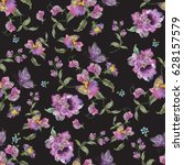 embroidery trend floral... | Shutterstock .eps vector #628157579