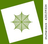 spider on web illustration....   Shutterstock .eps vector #628159334