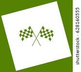 crossed checkered flags logo... | Shutterstock .eps vector #628160555