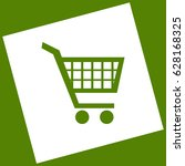 shopping cart sign. vector.... | Shutterstock .eps vector #628168325