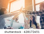 great work  we did it  cheerful ... | Shutterstock . vector #628172651