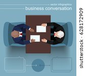 business conversation at the... | Shutterstock .eps vector #628172909