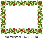 holly christmas frame 3 | Shutterstock .eps vector #62817340